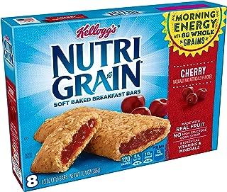 Kellogg's Nutri-Grain Cereal Bars (Cherry, 8-Count, 1.3 oz Bars, Pack of 6)