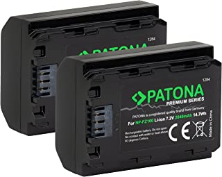 PATONA Premium - 2X zamiennik baterii Sony NP-FZ100 - (2040 mAh z Infochip) - do Sony Alpha ILCE 6600/7 III / 7R III / 9 9...