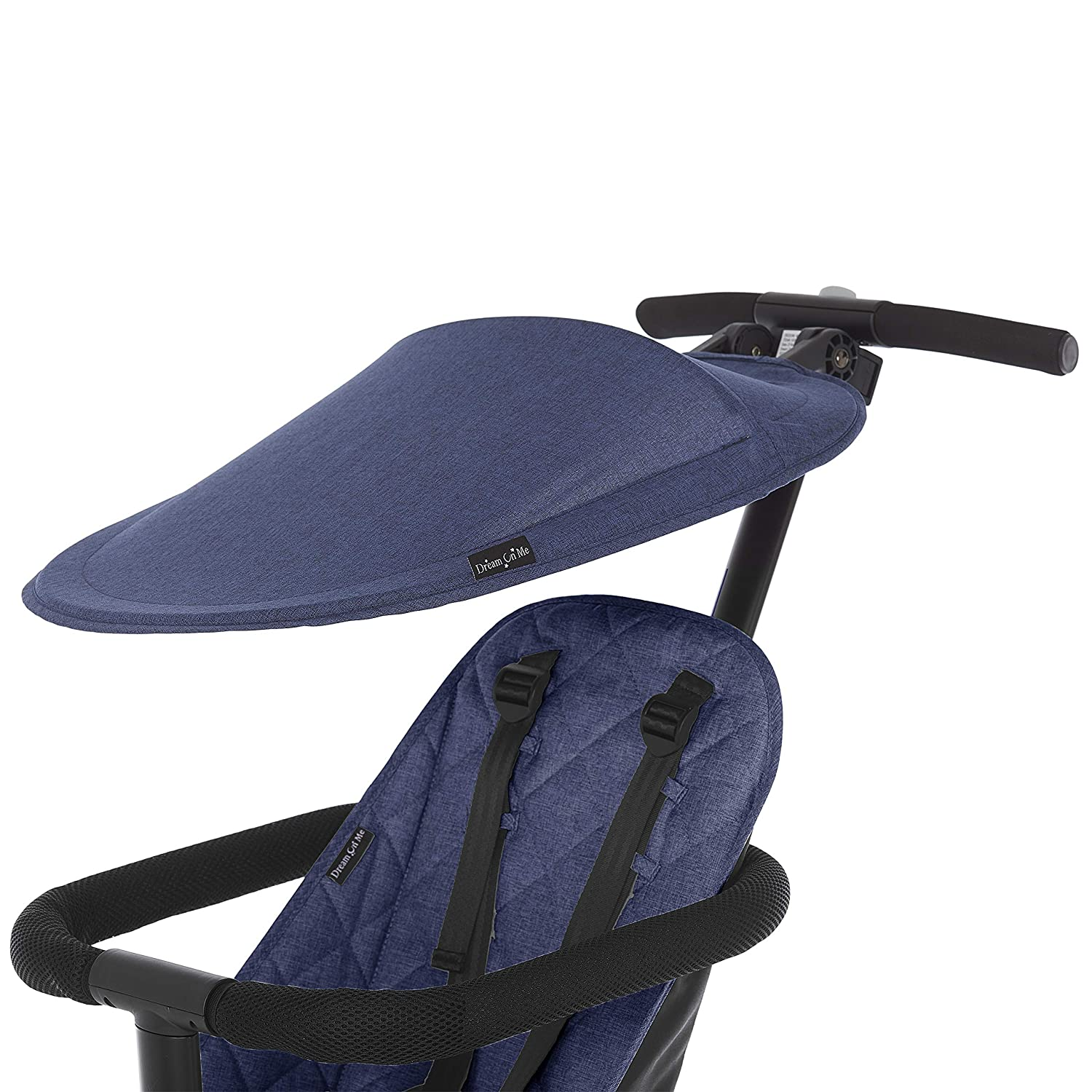 Dream On Me Coast Rider Travel Stroller Lightweight Stroller Compact Portable and Vacation Friendly Stroller, Navy