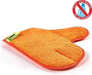 Pure-Sky Microfiber Glove Dusting Mitt – Ultra Microfiber Cleaning Cloth Glove – JUST ADD Water No Detergents Needed – Use for Cleaning Furniture, Home Appliances, Screens, Electronics