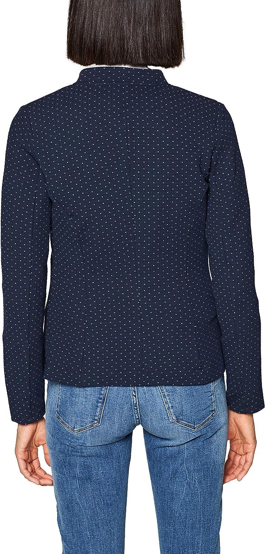 ESPRIT Womens 999ee1g801 Polka Dot Long Sleeve Suit Jacket