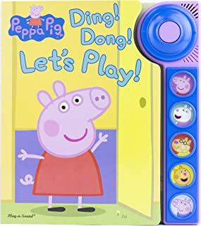 Peppa Pig - Ding! Dong! Let's Play! Doorbell Sound Book - PI Kids