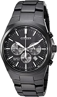 Citizen Men's ' Quartz Stainless Steel Casual Watch, Color:Black (Model: AN8175-55E)
