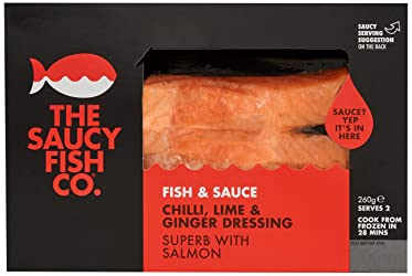 The Saucy Fish Company, Salmon Chilli, Lime and Ginger, 260 g (Frozen)