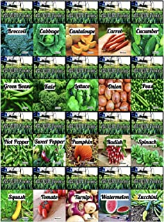 Sponsored Ad - Set of 30 Vegetable & Melon Seeds Perfect for Your Home Garden 30 Varieties-All Seeds are Heirloom, 100% No...