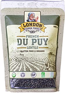 French Du Puy Lentils - Gluten Free and Organic,500 Grams