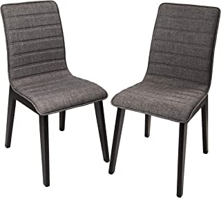 FUNCASH Dining Chairs, Set of 2 Dining Room Chair Grey...