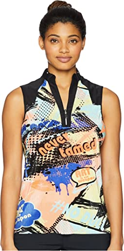 Crunchy Never Tamed Print Sleeveless Top