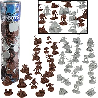 SCS Direct Robot Fantasy Sci-fi Action Figures - 52 Ready for Futuristic Space Battle Toy Figures - with 14 Unique Characters - Great for Party Favors, Role Playing Games, Shadowrun, etc
