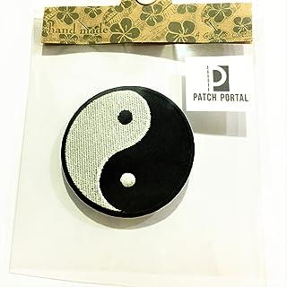 Patch Portal Yin Yang Logo Tao Dao Rainbow Chinese Taoism Symbol Emblem 3 Inches Dia Embroidery Morale Circle Decorative E...