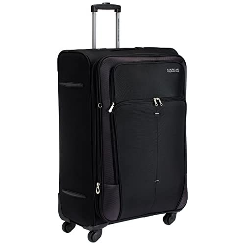 American Tourister Crete Polyester 77cms(30 inch) Black Softsided Check-in Luggage (49W (0) 09 003)