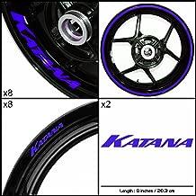 Stickman Vinyls Motorcycle Decal Gloss Blue Graphic Kit For Suzuki Katana
