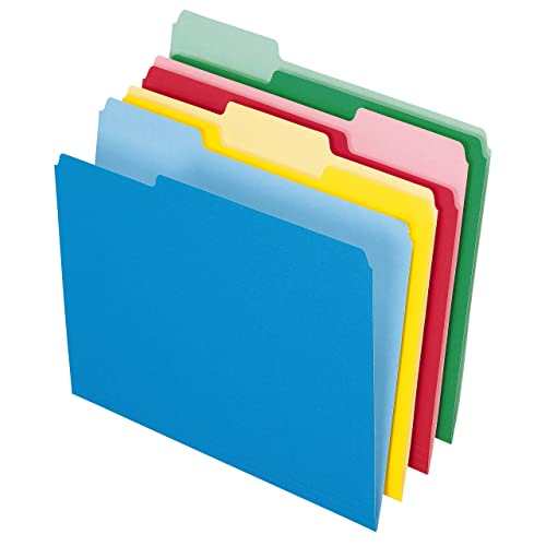 Pendaflex 82300 Colored File Folders, 1/3 Cut Top Tab, Letter, Assorted Colors (Pack of 24)