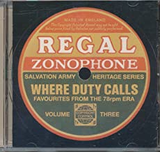 Where Duty Calls Favorite Songs from the 78rpm Era Volume 3 ( 2000 Music CD)