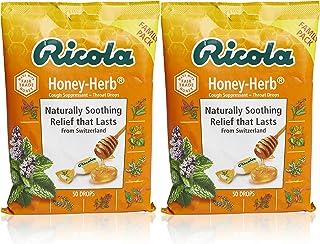 Ricola Honey Herb Herbal Cough Suppressant Throat Drops, 50ct Bag (Pack of 2)