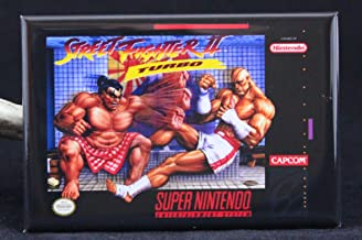 Street Fighter 2 Turbo Game Box Refrigerator Magnet.
