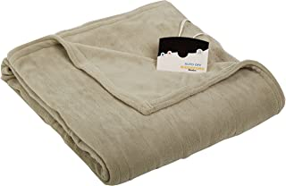 Biddeford 2020-905291-633 Electric Heated Knit MicroPlush Blanket, Twin, Sage