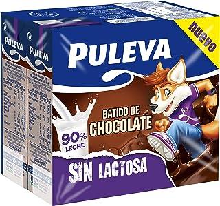 Puleva Batido de Chocolate Sin Lactosa 200 ml - Pack de 6