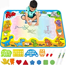 FREE TO FLY Large Aqua Drawing Mat for Kids Water Painting Writing Doodle Board Toy Color..