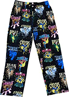 Marvel X-Men The Animated Series Characters All Over Lounge Pants (Large) Black