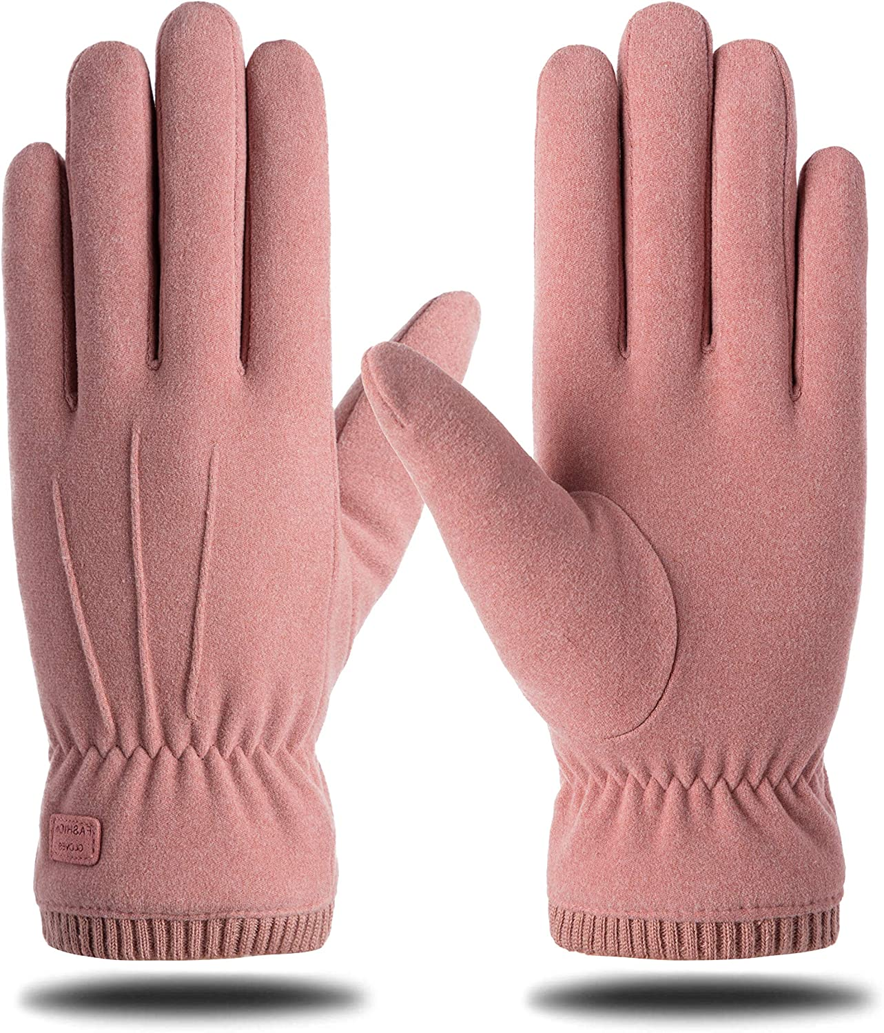 Womens Winter Warm Touchscreen Gloves Thermal Soft Lining Elastic Cuff Texting Glove