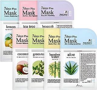アリウル7daysプラスマスク 7種セット (7種×各1枚=全7枚 パット付き セルロース 新素材)
