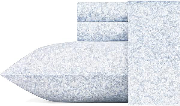 Laura Ashley Blossoming Sheet Set Queen Blue