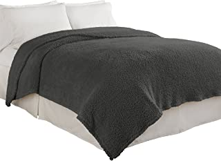 Beautyrest Cosette Ultra Soft Blanket, Smoke, Twin