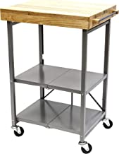 Origami Folding Kitchen Cart on Wheels | for Chefs Outdoor Coffee Wine and Food, Microwave Cart, Kitchen Island on Wheels,...