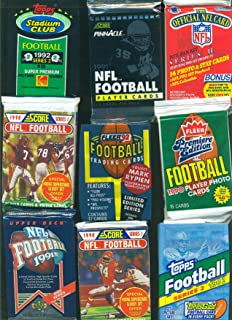100 OLD FOOTBALL CARDS ~ SEALED WAX PACKS CARD LOT