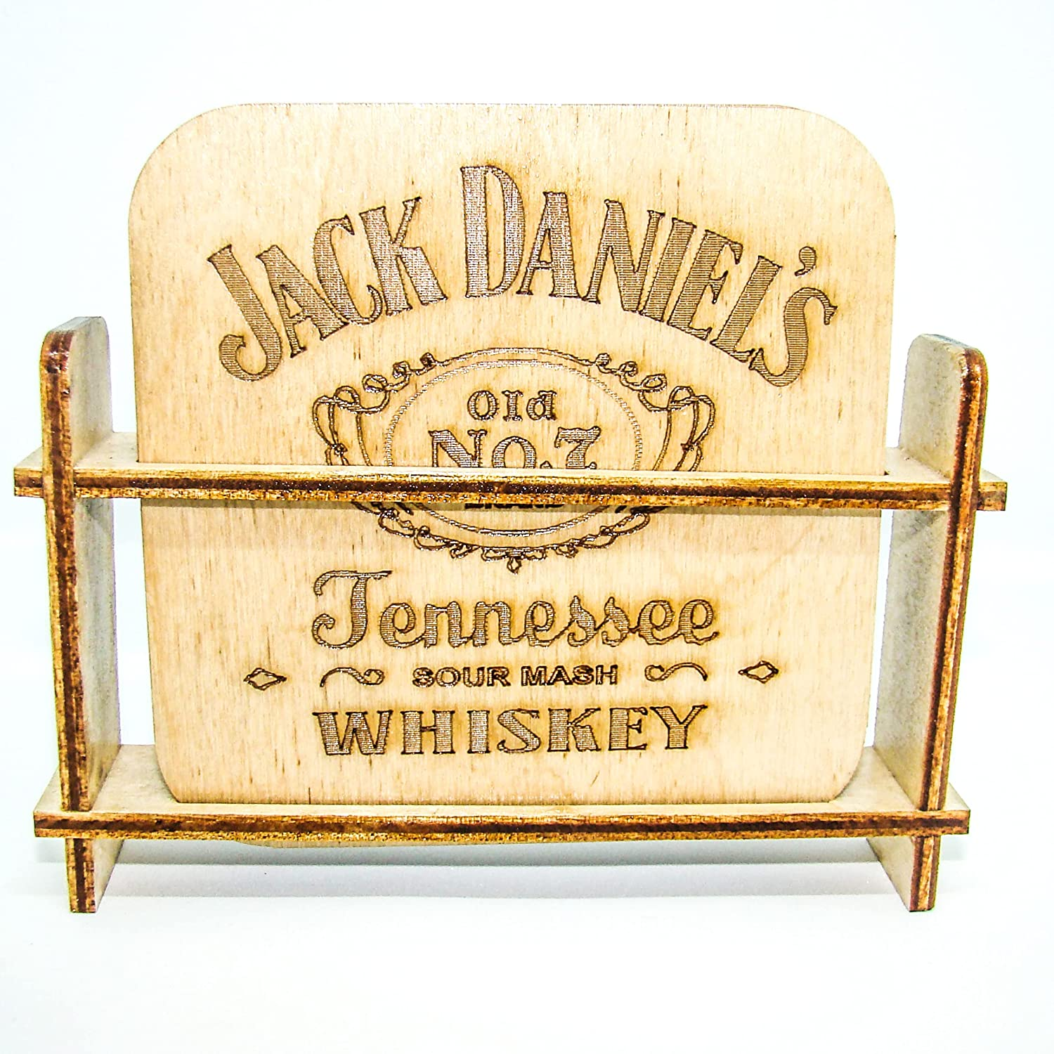 Wooden Seasonal Wrap Introduction coasters for New product type Favorite whiskey alcohol