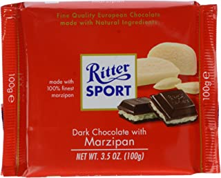 Ritter Dark Chocolate With Marzipan, 3.5 oz
