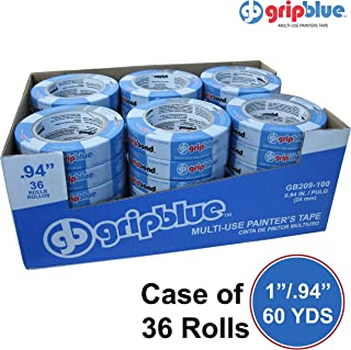 """Blue Painters Tape 0.94""""/24mm X 60 YDs - Case of 36 Rolls 