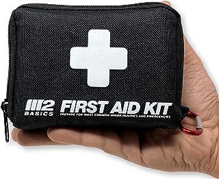 M2 BASICS 150 قطعه کیت کمک های اولیه w / کیسه فشرده، کارائیب، پانل اضطراری | راهنمای رایگان کمک های اولیه | عرضه اورژانس پزشکی | پر از لوازم برای خانه، دفتر، خارج از منزل، ماشین، کمپینگ، مسافرت