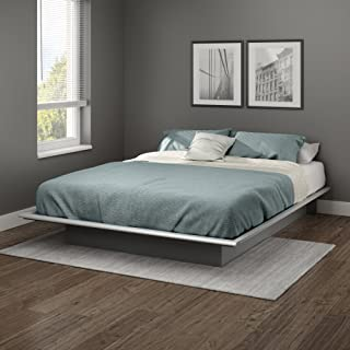South Shore Step One Queen Platform Bed (60''), Soft Gray, 60