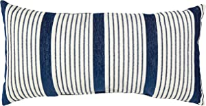 Rivet Casual Outdoor Throw Pillow - 24 x 12 Inch, Navy