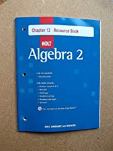 Holt Algebra 2: Resource Book with Answers: Chapter 12
