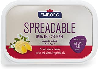 Emborg Spreadable Unsalted Butter, 225g - Chilled