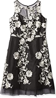 Sandra Darren Women's Sleeveless Embellished Mesh Fit & Flare Dress