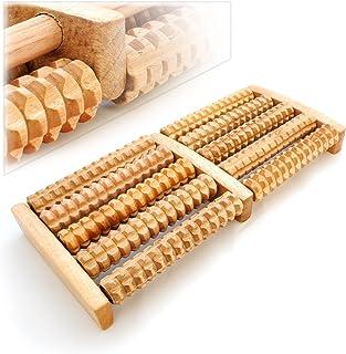 Rodillo de masajes Estimula la la Soporte Reflex zonas, Masaje Roller, 5x 2rodillos de madera, madera Masajeador–Marca Ganzoo