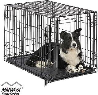 MidWest Homes for Pets Dog Crate | iCrate Single Door & Double Door Folding Metal Dog..