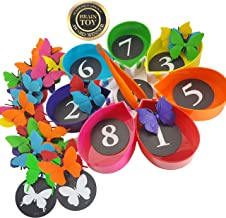 Skoolzy Butterfly Toddler Learning Games - Counting, Matching, Color Sorting Montessori Toys for Preschool Activities - Kids Educational Toys for Girls & Boys Age 2 3 4 5 Year Old - 75 Pieces