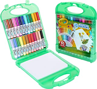 Crayola Pip-Squeaks Washable Markers Kit, Art Tools, Over 65 Pieces, Includes Markers, Paper and Durable Case