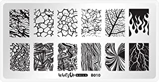 Whats Up Nails - B010 Texture Me Nature Stamping Plate for Nail Art Design