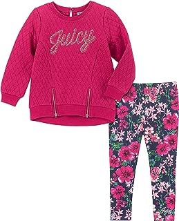 Juicy Couture 女童长裤两件套,粉色/印花,4