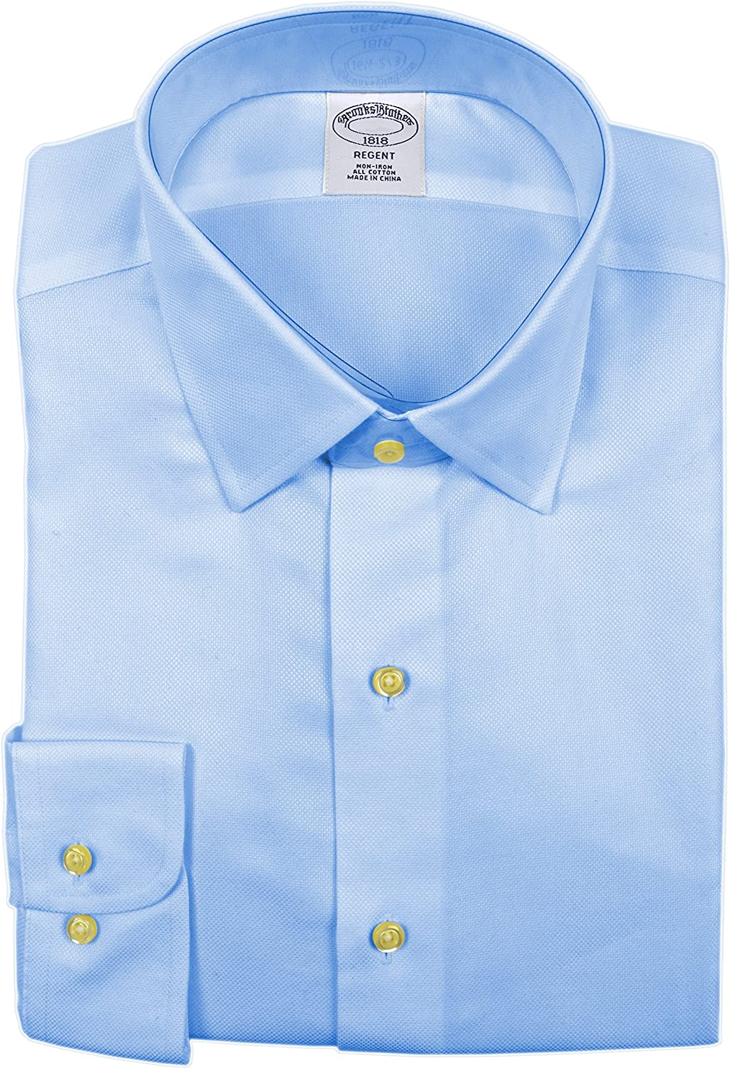 Brooks Brothers Men's Textured Regent Fit Non Shirt Sales of SALE items from new works Iron Dress L Tucson Mall