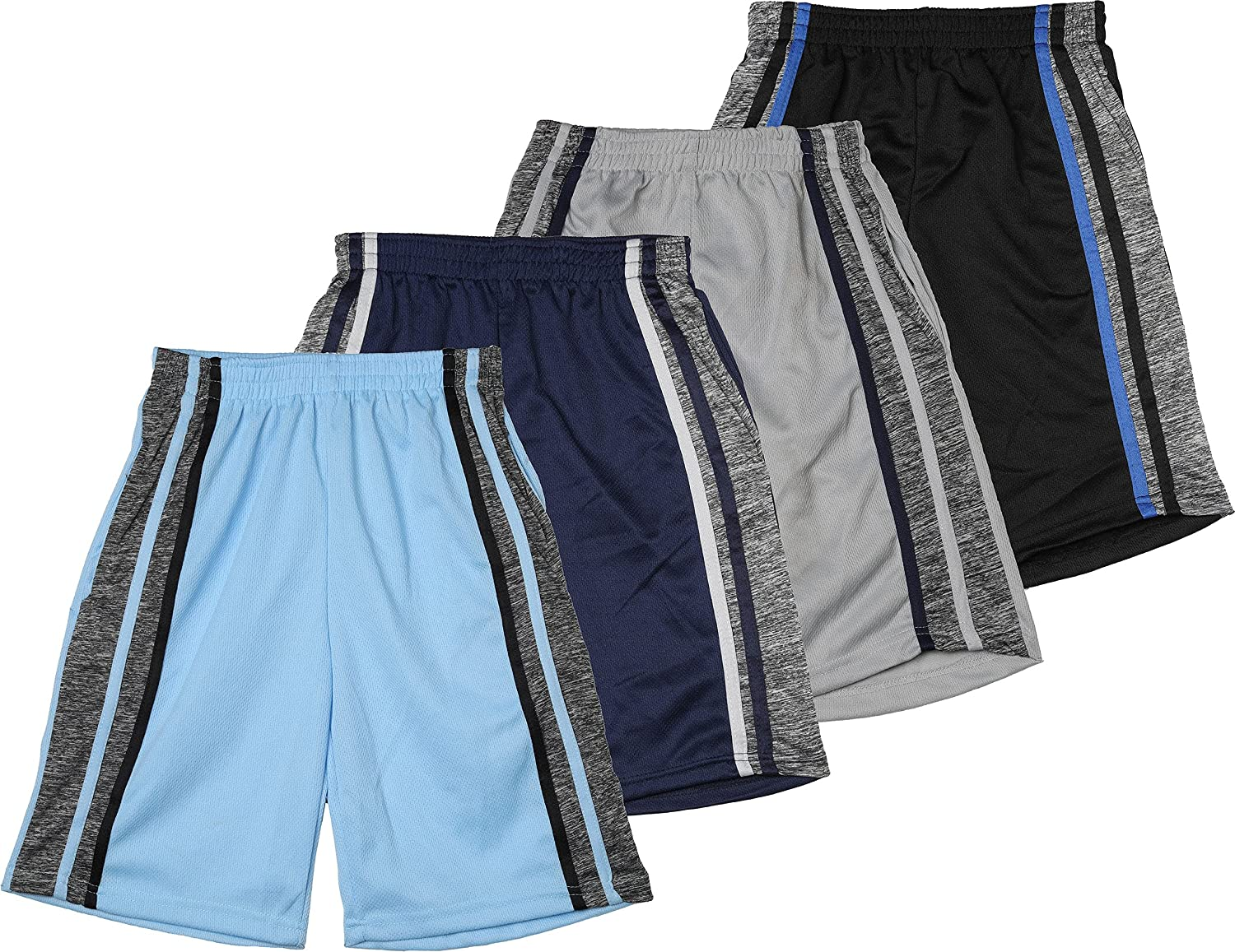 Active Club Gorgeous Boys' 4-Pack Performance High order Athletic Basket Mesh
