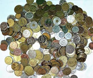 1 Full Pound of Old Tokens and Old World Coins Tokens are All Metal from Different Business Arcade, Amusement Transportation,ETC.