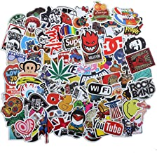 Cool Stickers,100Pcs,Waterproof Vinyl Stickers,for Door Window,Car,Motorcycle Bicycle,Luggage, Skateboard Vinyl Graffiti Laptop Stickers Decal Patches
