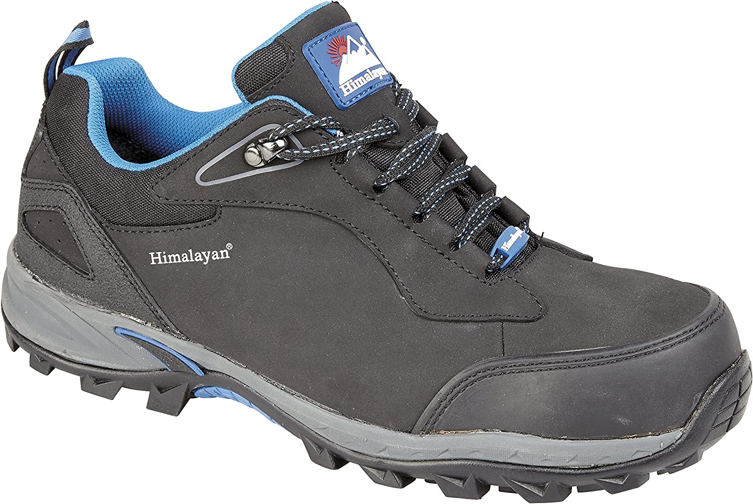 Himalayan 4039 S1P SRC Black Leather Steel Toe Cap Sports Safety Trainers shoes - Size 11